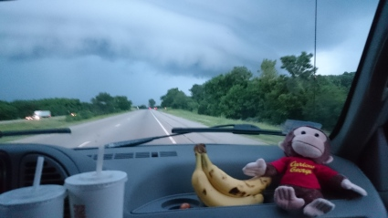 George experiencing some funky weather in Wisconsin.