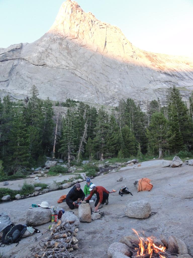 Our campsite below Mt. Haystack.