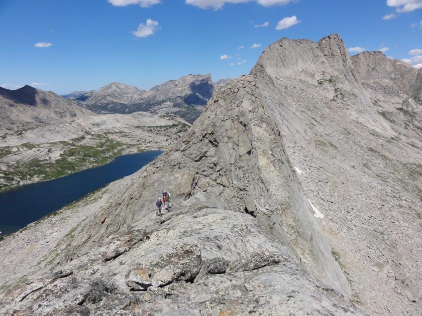 The crew approaching Steeple Peak