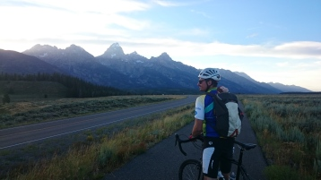 Steve and George on our beautiful ride from Jenny Lake to Jackson and back.