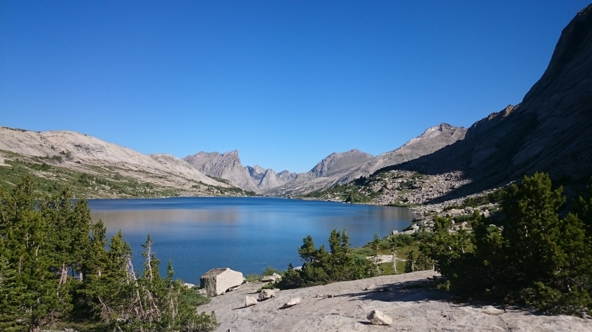The cirque of the towers as seen from Clear Lake.