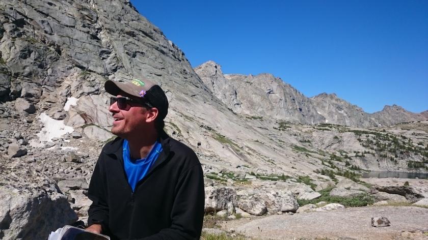 Steve scoping the approach to Steeple Peak.