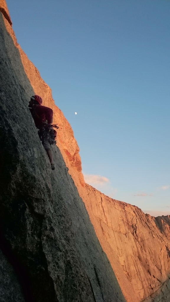 Rich leading the last pitch of the North Ridge of Steeple Peak.