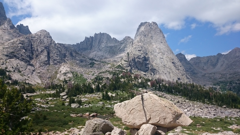 The view from our campsite in the cirque.