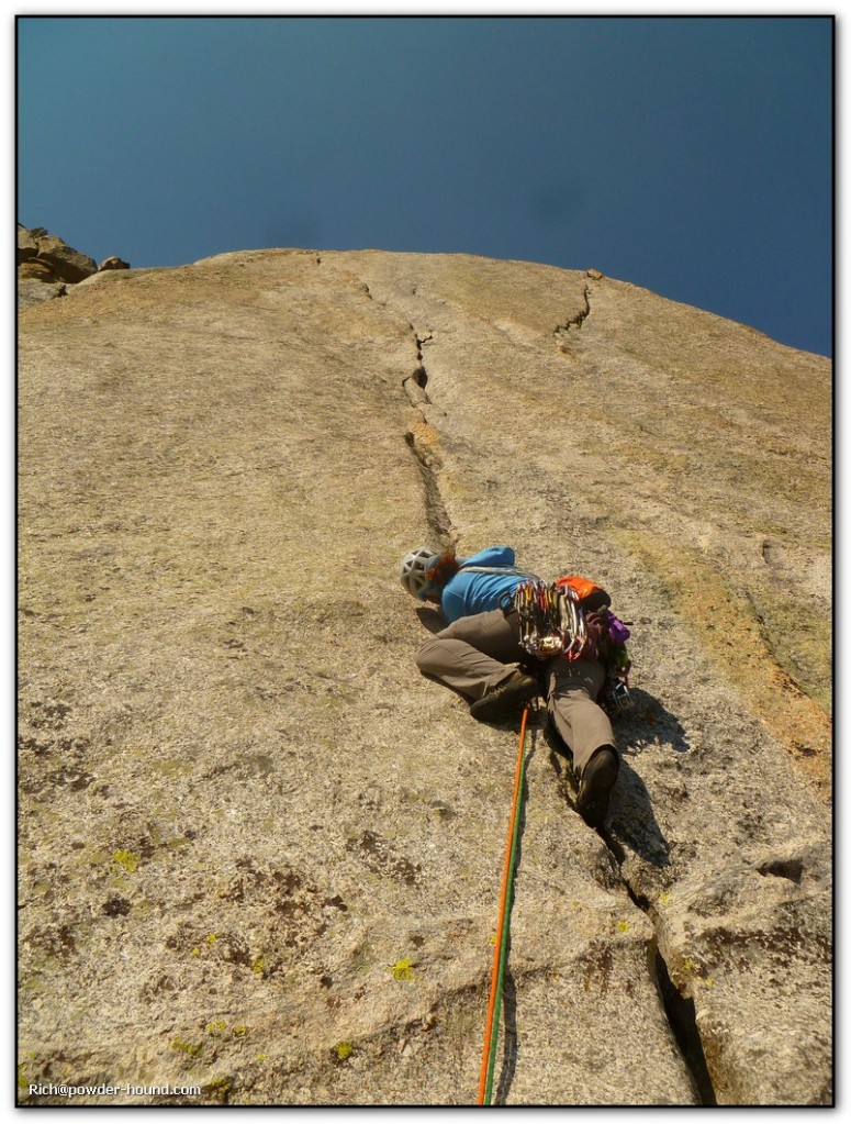 The K-cracks money pitch of the South Buttress (5.8). Photo credit: Rich Palatino
