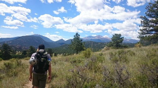 The hike into Lumpy Ridge with views of Rocky Mountain National Park.
