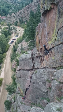 Lauren and Brooke linking up Werk Supp and March of Dimes in Eldorado Canyon.