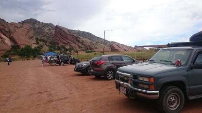 George and Boris tailgating at Red Rock Amphitheater.