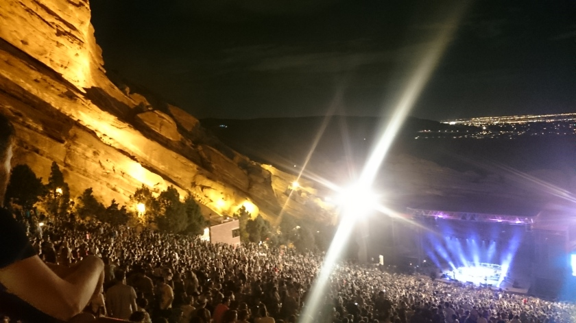 My Morning Jacket in Red Rock Amphitheater with Jarred.