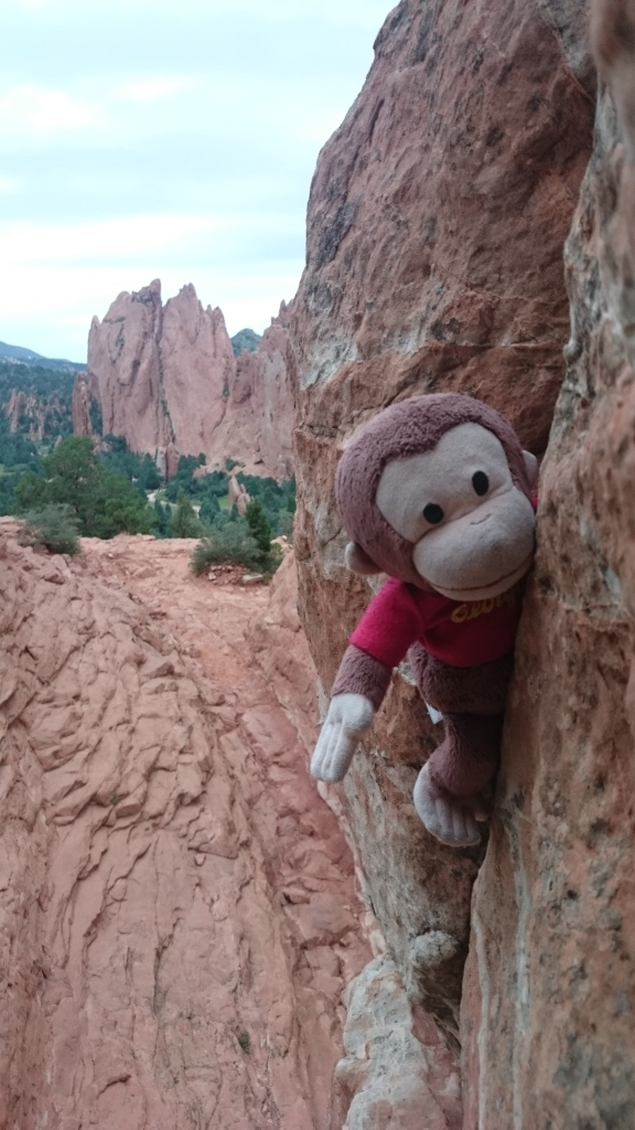 George shows that he is a hardman in a Garden of the Gods offwidth.