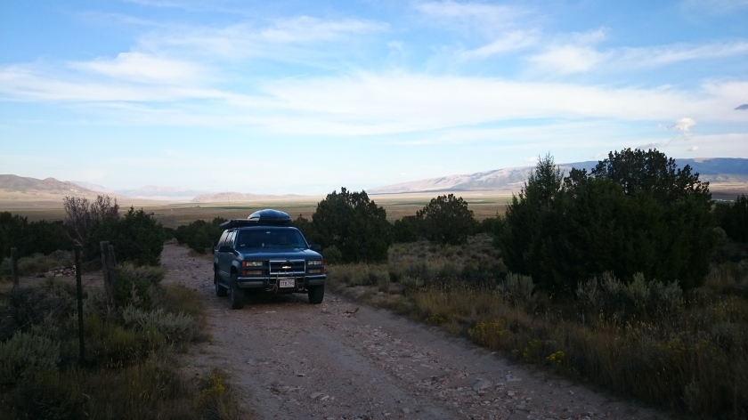 BLM land dirt road camping is one of Boris' favorite activities.