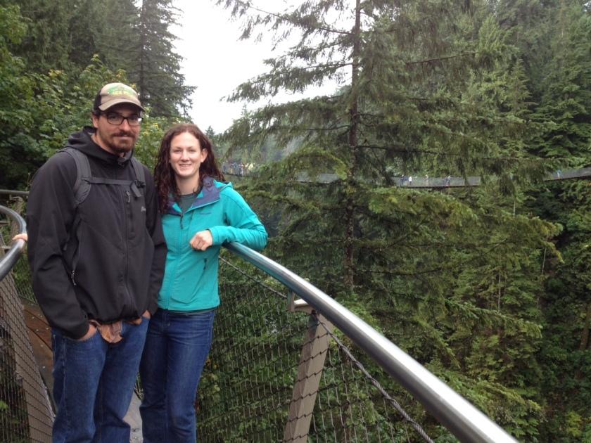 Capilano suspension bridge park, Vancouver.