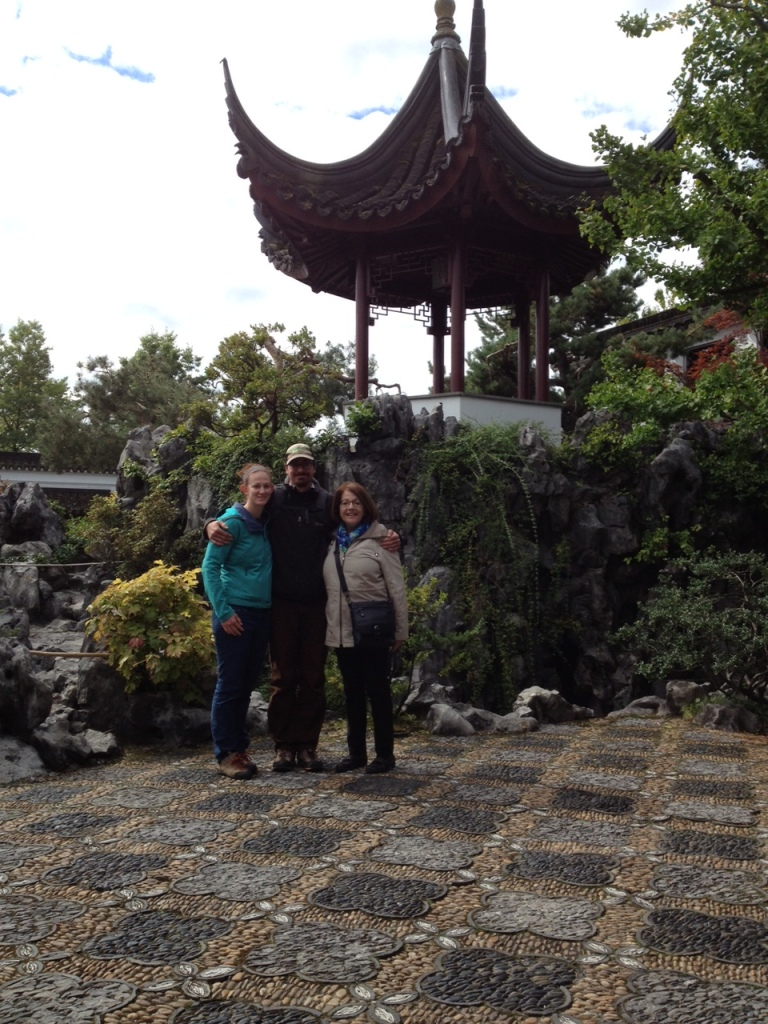 Enjoying the Dr. Sun Yat-Set Classical Chinese Garden.