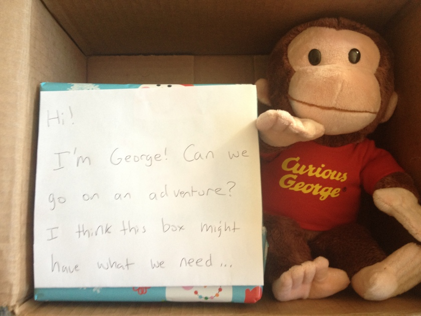 Sure George, you can come on our adventure!