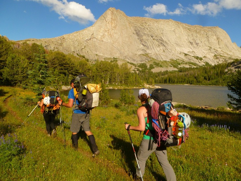 Scoping Mt. Haystack on our hike in. Photo credit: Rich Palatino
