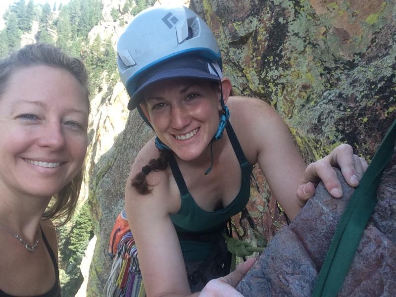 Pre 5.10 variation selfie. Happy to be reunited with one of my favorite Boston climber buddies. Photo Credit: Brooke Schuemann.
