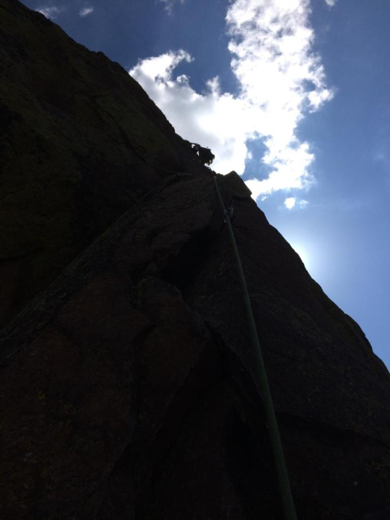 The Yellow Spur 5.10 variation. Photo Credit: Brooke Schuemann.