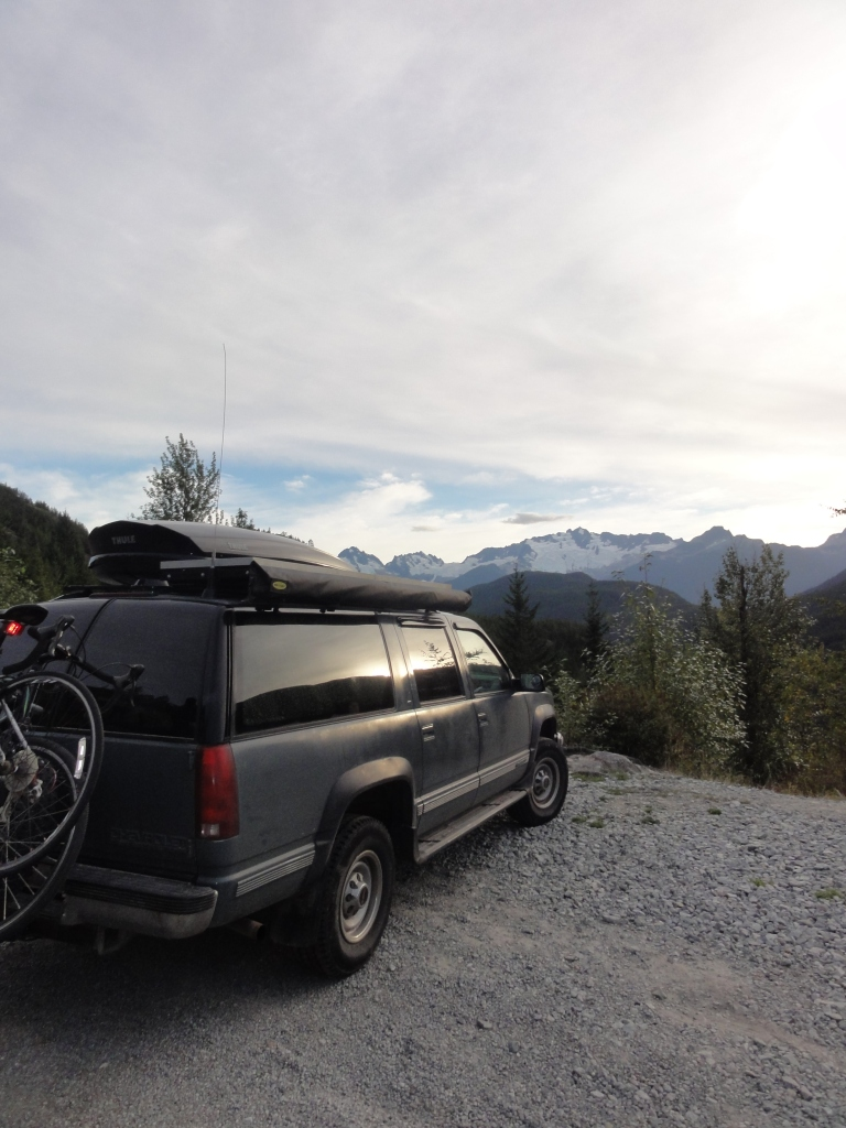 Boris soaking in the British Columbia mountain views.