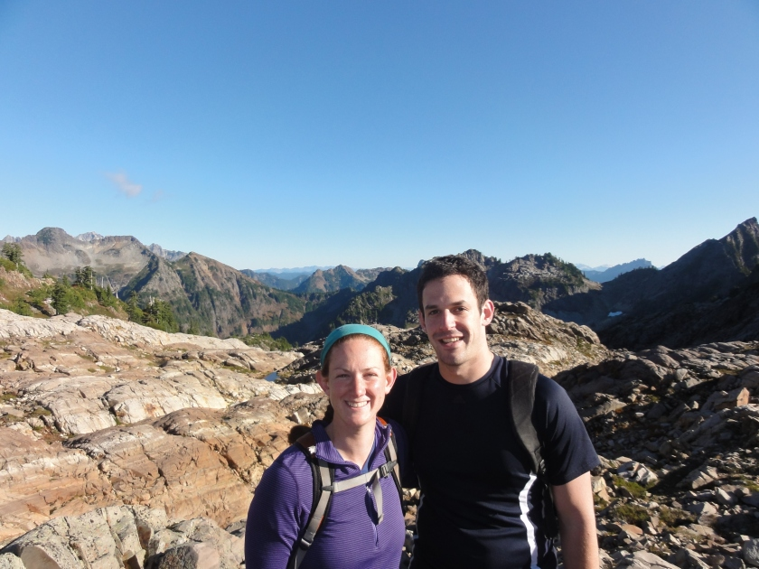 Siblings enjoying a beautiful day hiking up to Gothic Basin in the cascades.