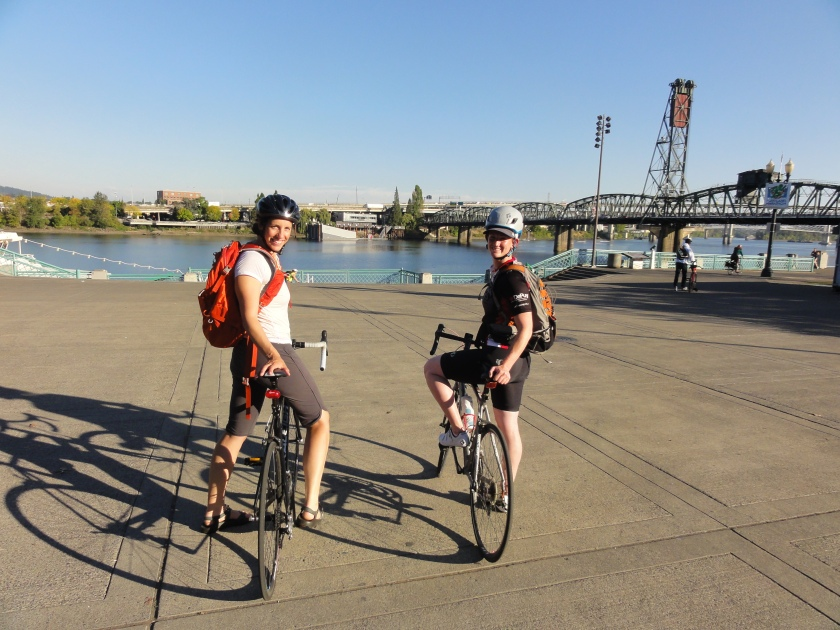 Look who we found biking through Portland!