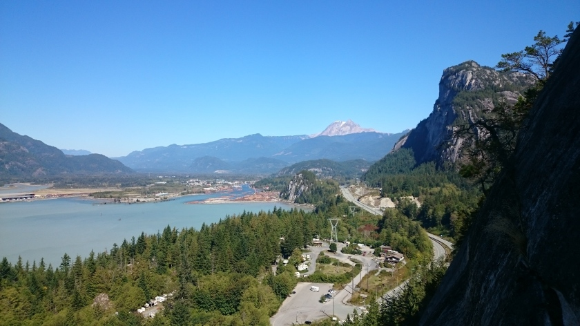 The view of The Chief and Squamish from The Papoose.
