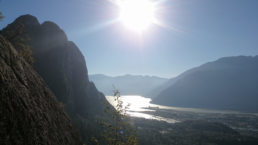 Looking back at The Chief and Howe Sound from Slhanay.