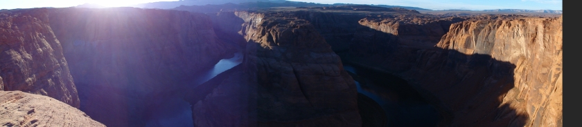 Catching the last light of the day at Horseshoe Bend in Arizona.