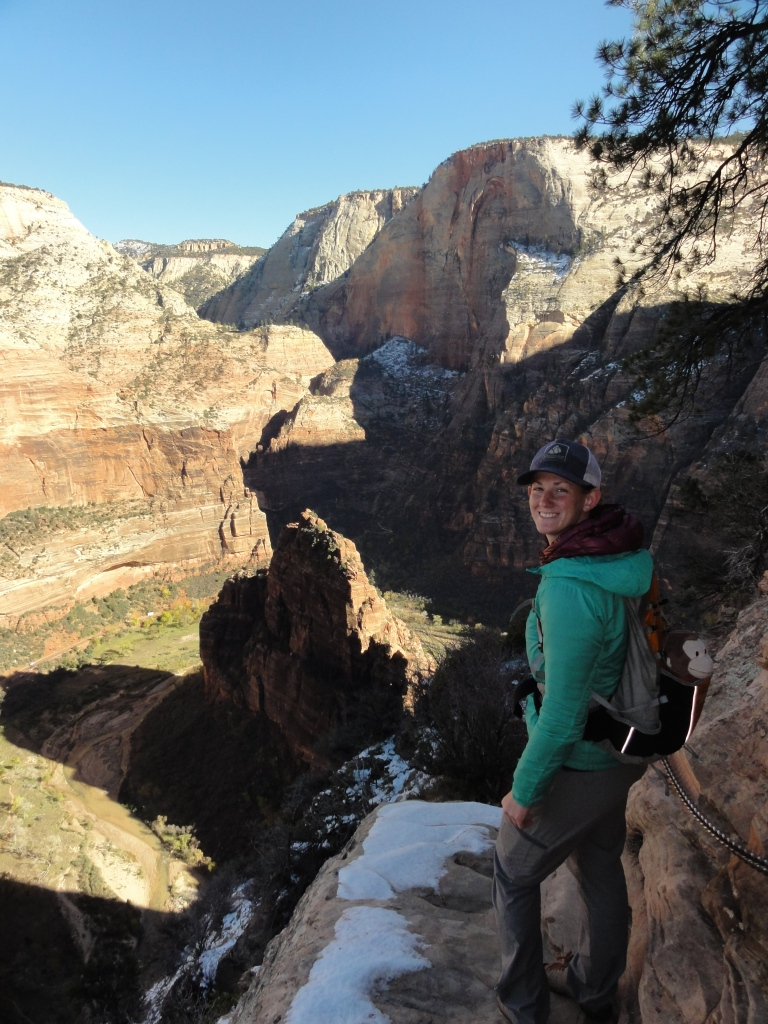 Joanna and George hiking in Zion National Park.