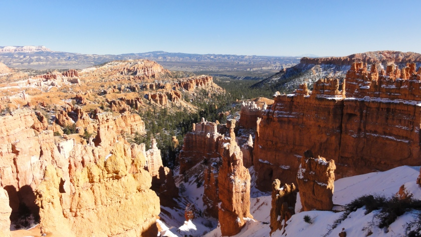 A snowy Bryce Canyon.