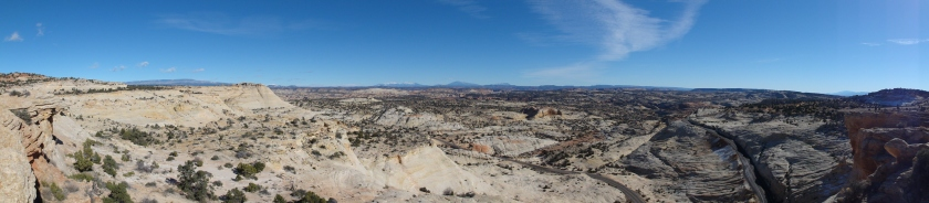 The ranger in Escalante told us the drive to Arches would take 4.5 hours, but it always takes longer because its too beautiful not to stop. He was right, here is one of the views from Highway 12.