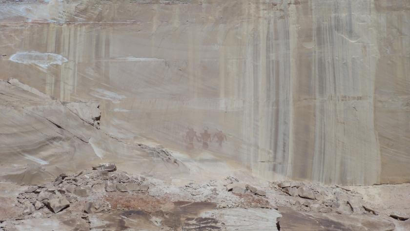 Petroglyphs along the Lower Calf Creek Falls trail.