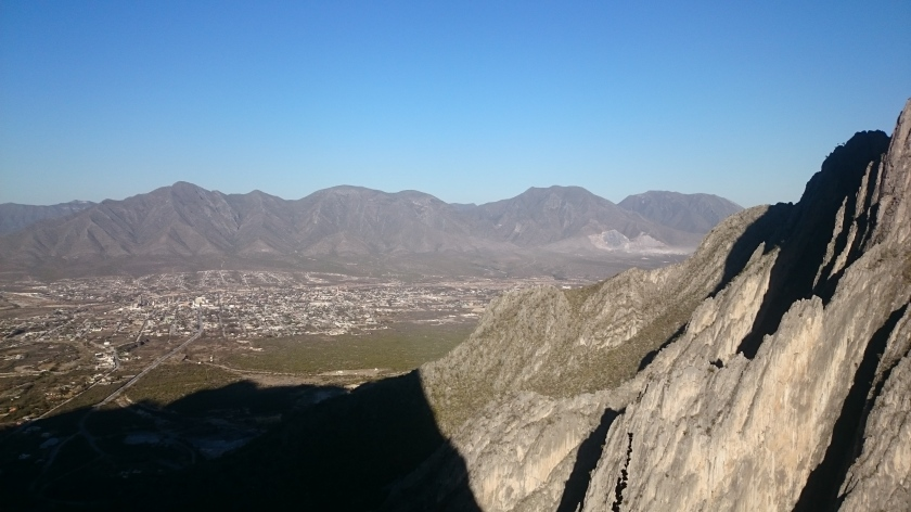 Looking back on the city of Hidalgo from the cliffs.
