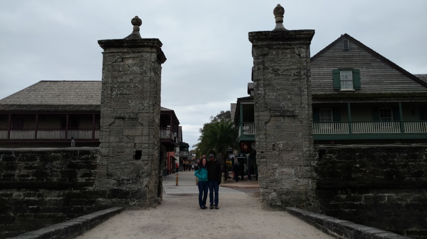 Exploring St. Augustine on an abnormally chilly Florida day.