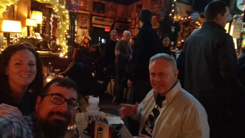 Enjoying some Jazz and birthday cake in New Orleans.  The man across from us, Tim, had the band and entire bar singing to him.