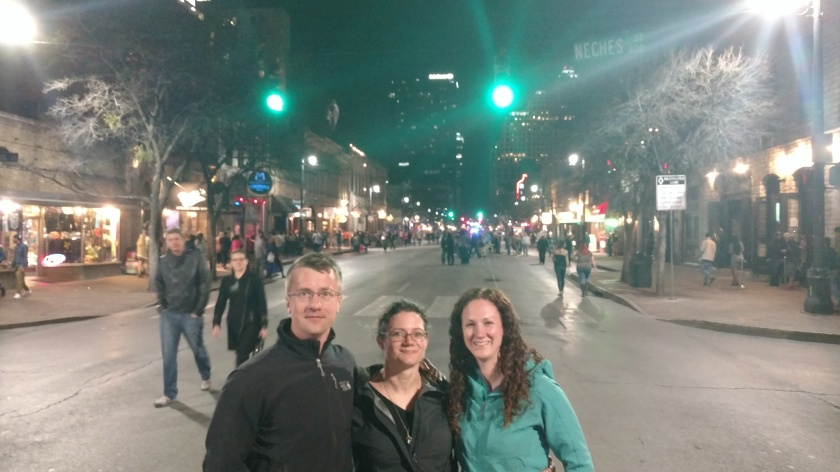 Saturday night in downtown Austin searching for live music.  We found a nice mix of death metal and country.