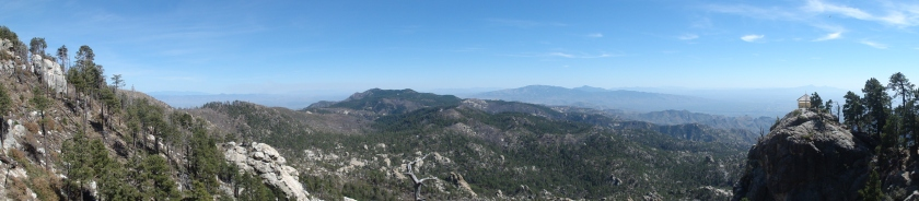 Hiking views near the summit of Mt Lemmon. The tiny house to the right is a fire watch tower.