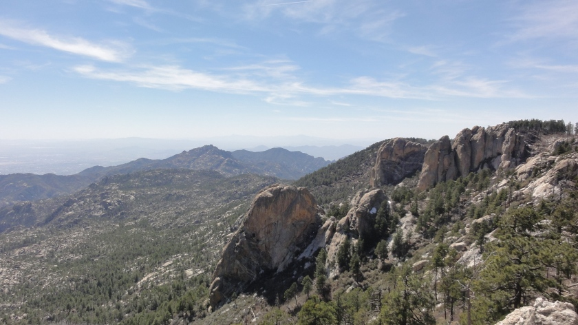 Mt Lemmon summit crags. These were closed to climbing due to peregrine falcon nesting.