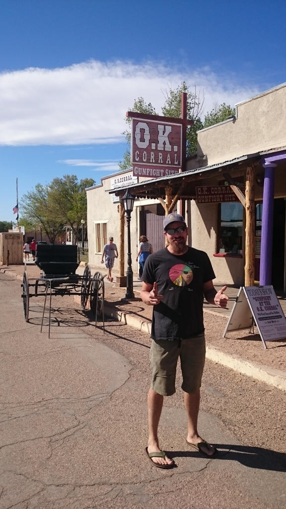 Visiting the OK Corral in Tombstone, AZ.